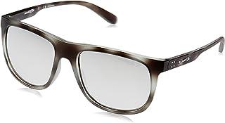 Arnette Men's Crooked Grind Polarized Rectangular Sunglasses, matte grey havana, 56.0 mm