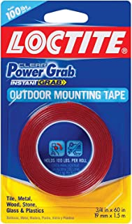 """Best Loctite 1360350-6 Clear Power Grab Outdoor Mounting Tape, 3/4"""" by 60"""" Rolls (Case of 6) Review"""