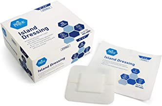"Medpride 4"" x 4"" Bordered Gauze-Island Dressing