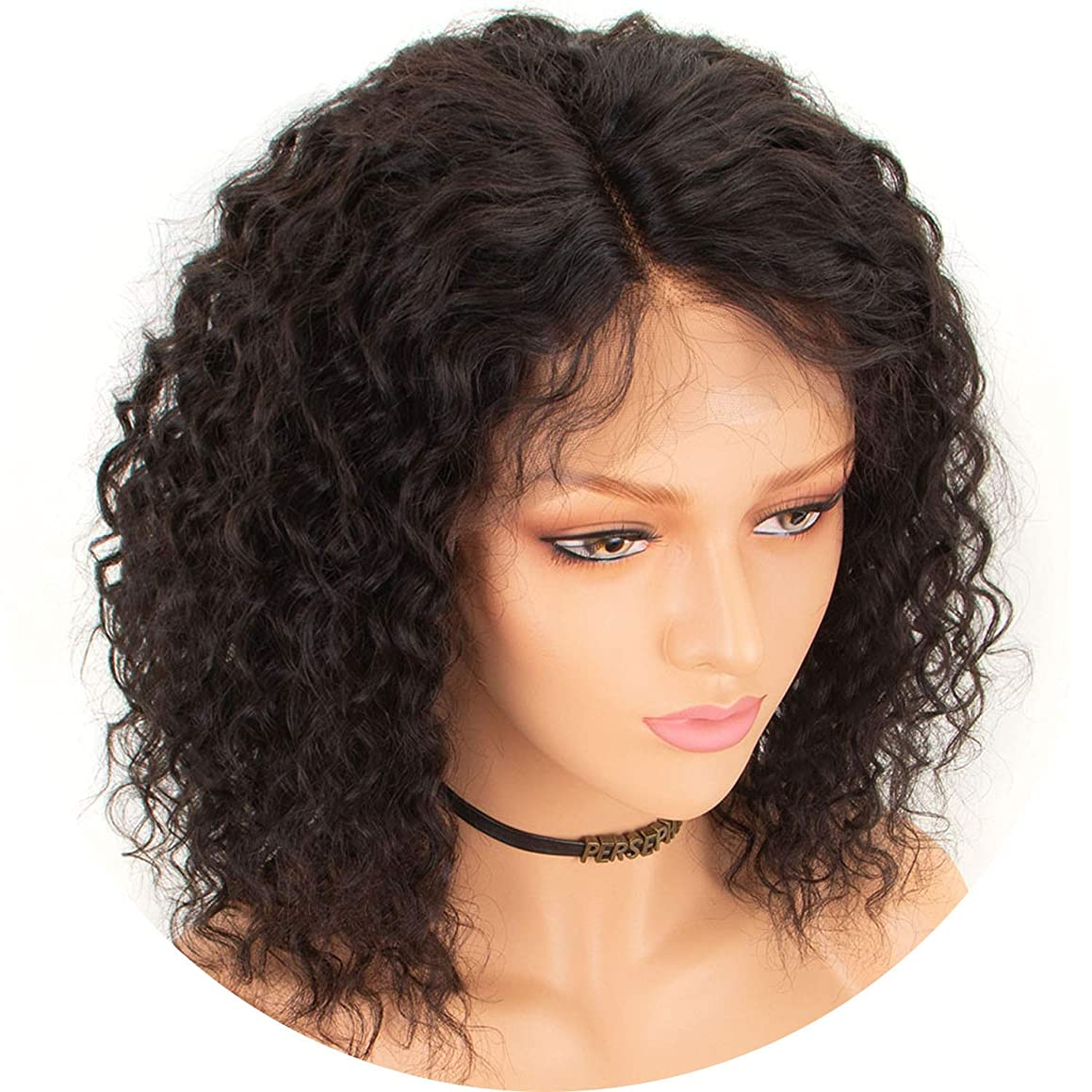 100% Human Hair Curly 360 Lace Frontal Wigs For Black Women Brazilian Remy Hair 360 Lace Wigs Full End With Baby Hair crack of dawn,20inches,130%,Natural Color