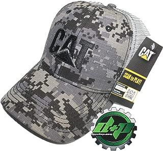 CAT Logo Caterpiller Digi Camo Trucker hat Grey mesh Back Truck Diesel Gear Cap