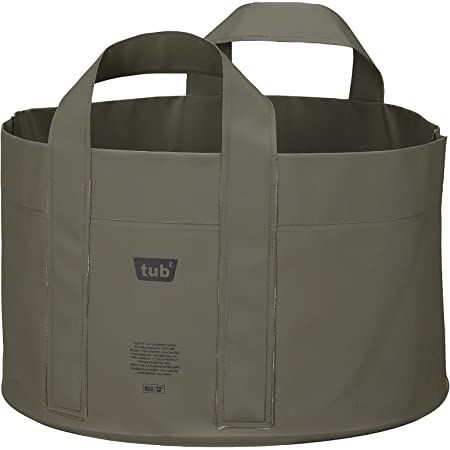 シービージャパン 桶 おりたたみ グリーン 18L ターポリン製 畳める桶 tubtub