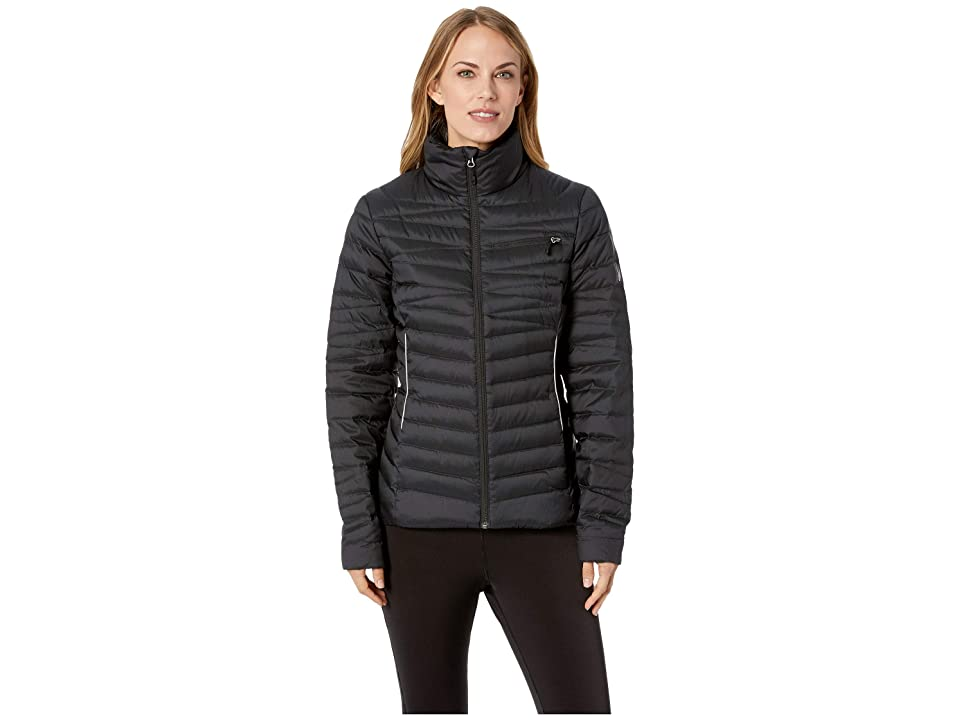 Spyder Timeless Down Full Zip Jacket (Black/Alloy) Women