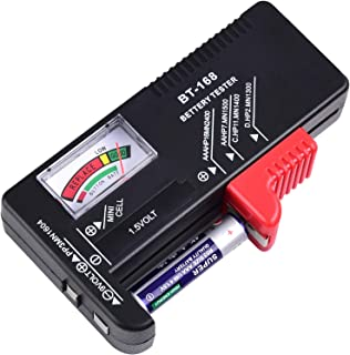 PAIYULE Battery Tester,BT-168 Battery Checker Compatible with AAAA, AAA, AA, C, D, 9V, 1.5V, 3V Lithium Batteries(No Batte...