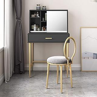 ZRN Table de Maquillage, Ensemble de Coiffeuse avec Miroir et Organisateur de Maquillage Coiffeuse, 1 Grand tiroir avec Ra...