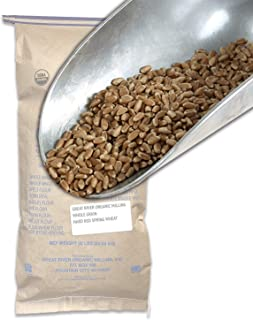 Great River Organic Milling, Whole Grain, Hard Red Spring Wheat, Organic, 50-Pounds (Pack of 1)