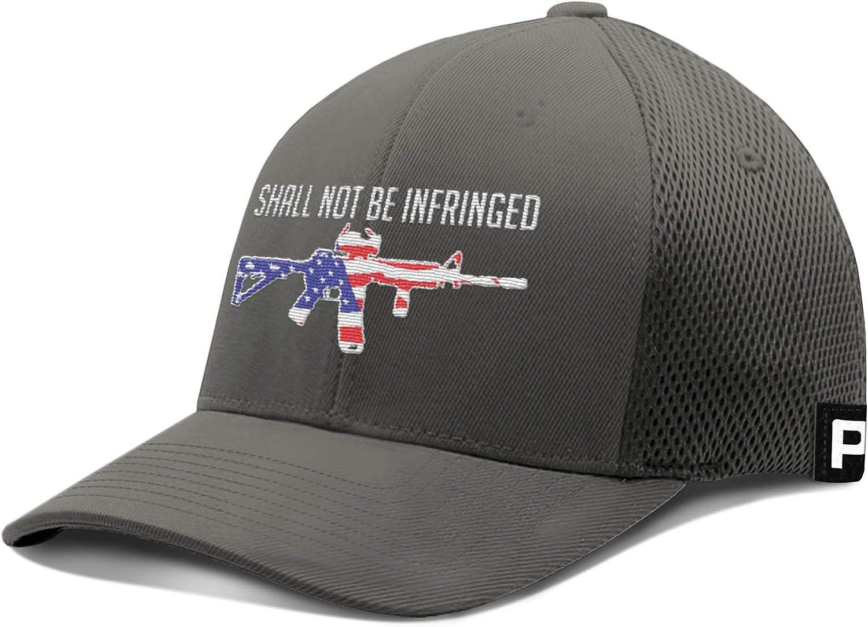 Printed Kicks Shall not be Infringed Hat Flex Fit Hat 2nd Amendment Rifle USA Flag Baseball Cap