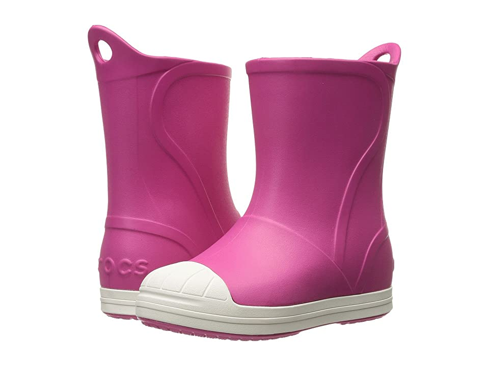 Crocs Kids Bump It Boot (Toddler/Little Kid) (Candy Pink/Oyster) Kids Shoes