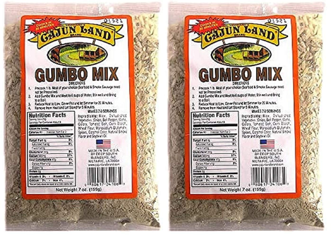 Max 68% OFF Cajun Land No Award-winning store MSG Gumbo Mix Two Ounce 7 Bags Pack of
