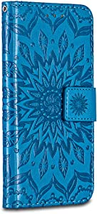 Galaxy Edge Plus Case Cover  Bravoday  Ripple   High Quality Leather   Card Slot   Wallet Leather Flip Case  for Galaxy Edge Plus Case  Blue