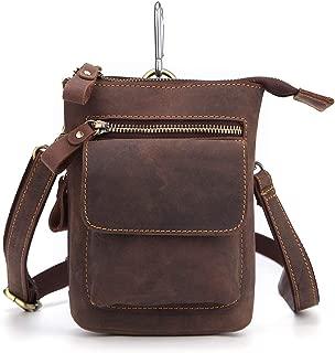 Heiye Men Genuine Leather Small Hook Phone Pouch Bum Waist Messenger Bag Pack