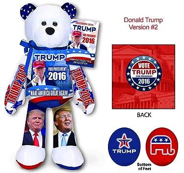 Donald Trump Collectible Bean Bear Beanie