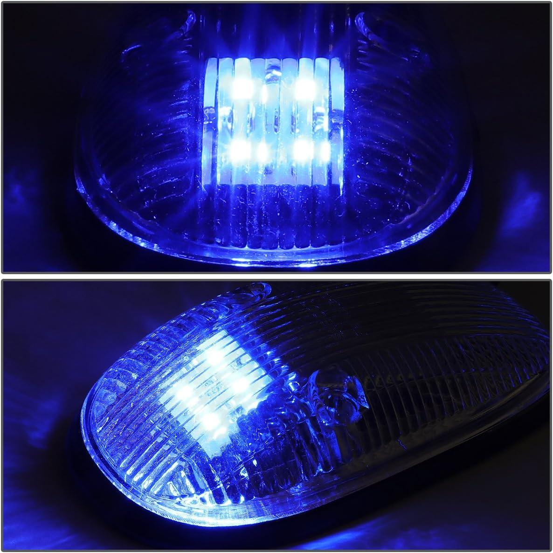 For 99-02 Dodge Ram 1500//2500//3500 DNA Motoring CBL-DR99-CH-W LED Cab Roof Top Marker Lights X 5