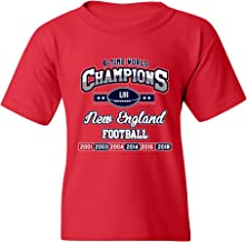 New World Champion 6-Time New England Football DT Youth Kids T-Shirt Tee