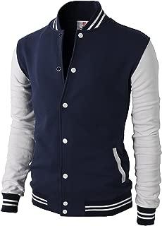 navy white varsity jacket