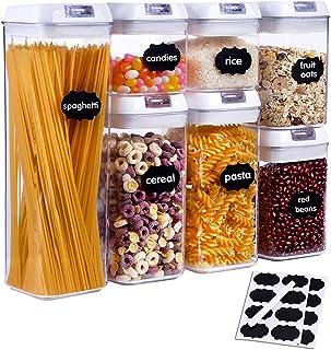 SUCHDECO Lot de 7 Boîtes Hermétiques Alimentaires en Plastique, Boîte de Conservation Alimentaire, Boîte de Rangement de C...