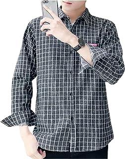 [クーパーアンドコー] 5カラー M~2XL チェックシャツ 長袖 カジュアル シャツ シャツジャケット 羽織 メンズ
