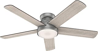 Hunter Fan Company 59483 Romulus Ceiling Fan, 54, Matte Silver