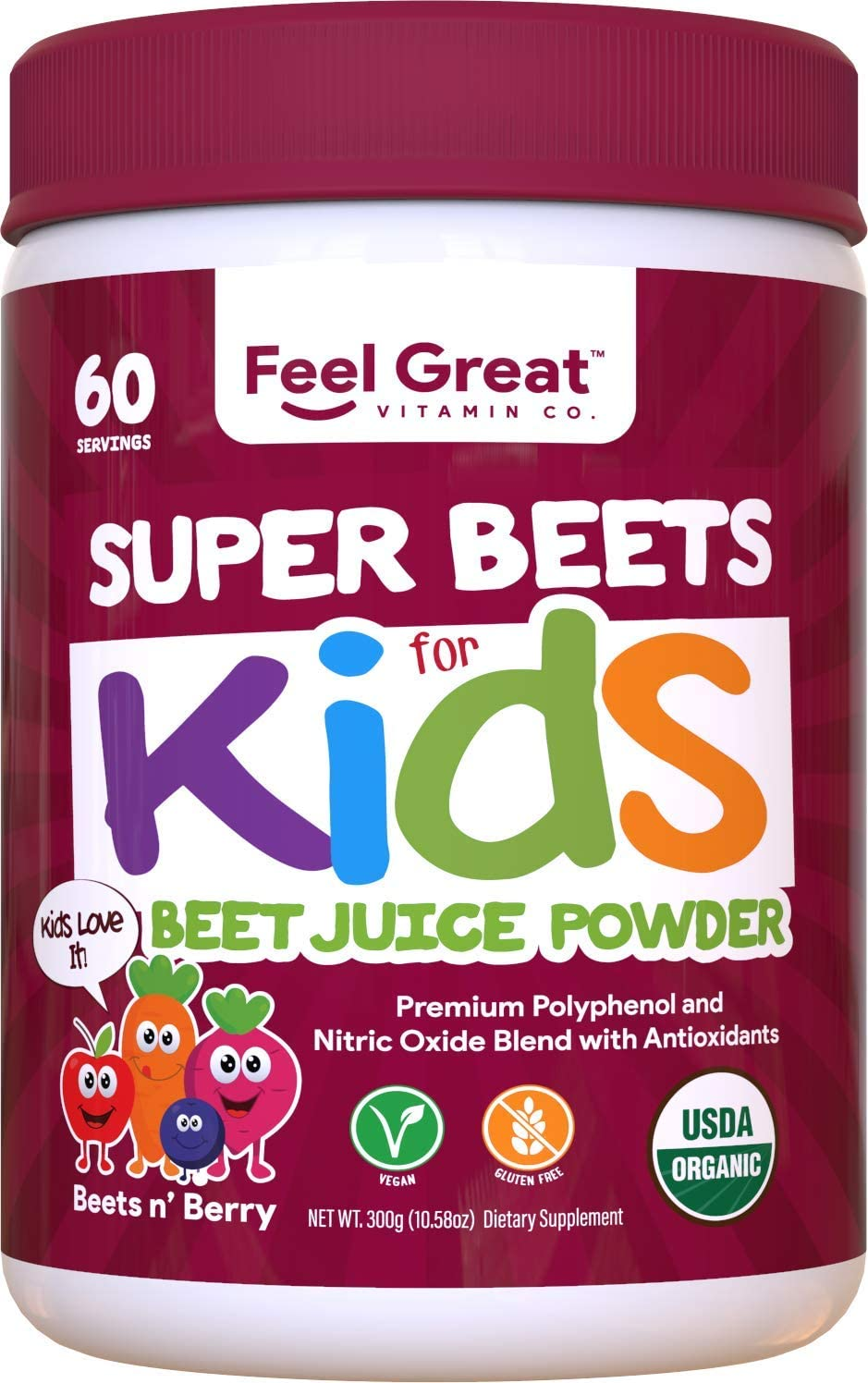 Organic Superfood Beet Max 45% OFF Award-winning store Root Juice Powder Feel by Great for Kids