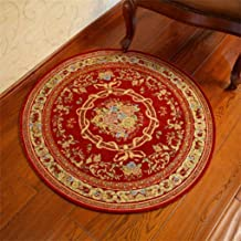 Comfortable Doormat Textile Circular Carpet Super Soft Home Living Dining Room Contemporary Lines Soft Rug Mat (120cm) Ind...
