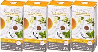 Bistrotea Tee-Kapseln - Kräutertee, 4er Pack, NespressoMaschinen kompatibel, 80 g