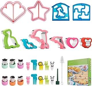 Freshmage Sandwich Bread Cookies Cutters Set of 16 Mouse, Heart, Dinosaur, Star Shape Food Cutters for Kids Boys Girls