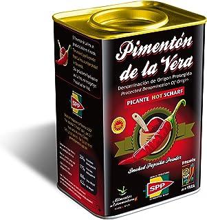 Pimentón de la Vera Ahumado, Picante en Lata de 750 g, Producto con la Denominación de Origen Protegida D.O.P. Condimento Apto para Celíacos.
