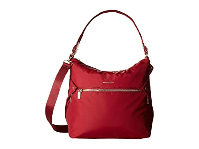 Hedgren Prisma Oblique Hobo (Pomegranate) Hobo Handbags