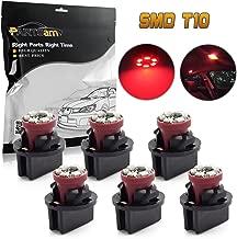 Partsam 6PCS T10 PC168 194 13mm holder Wedge Instrument Panel LED Light Gauge Cluster Lamp with Twist Lock