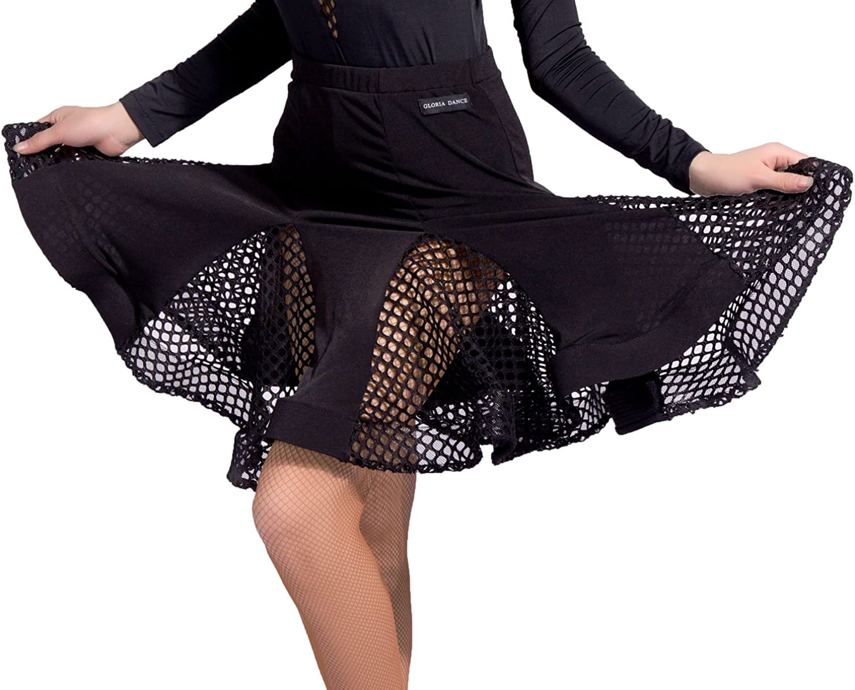 SCGGINTTANZ G2047 latin ballroom dance professional lucky lock pattern and fish tail modeling skirt
