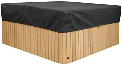 Cheng Yi Large 88Inch Square Hot Tub Cover,Pool Spa Square Hot Tub Cover Cap,Waterproof UV Resistant Swim SPA Cover Protector,Durable All Season Protection CYFC1304 (Black)