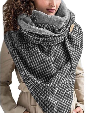 Sciarpa Calda Invernale Donne Sciarpa Scaldacollo per le Donne Sciarpa con Bottoni Sciarpa Sciarpa Multifunzione con Bottoni a Scialle Mode Sciarpa Donna Inverno Grandi Poncho Calde Scialli Sciarpa