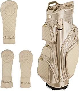 Tan Ladies Golf Cart Bag (with 3 Matching Headcovers)