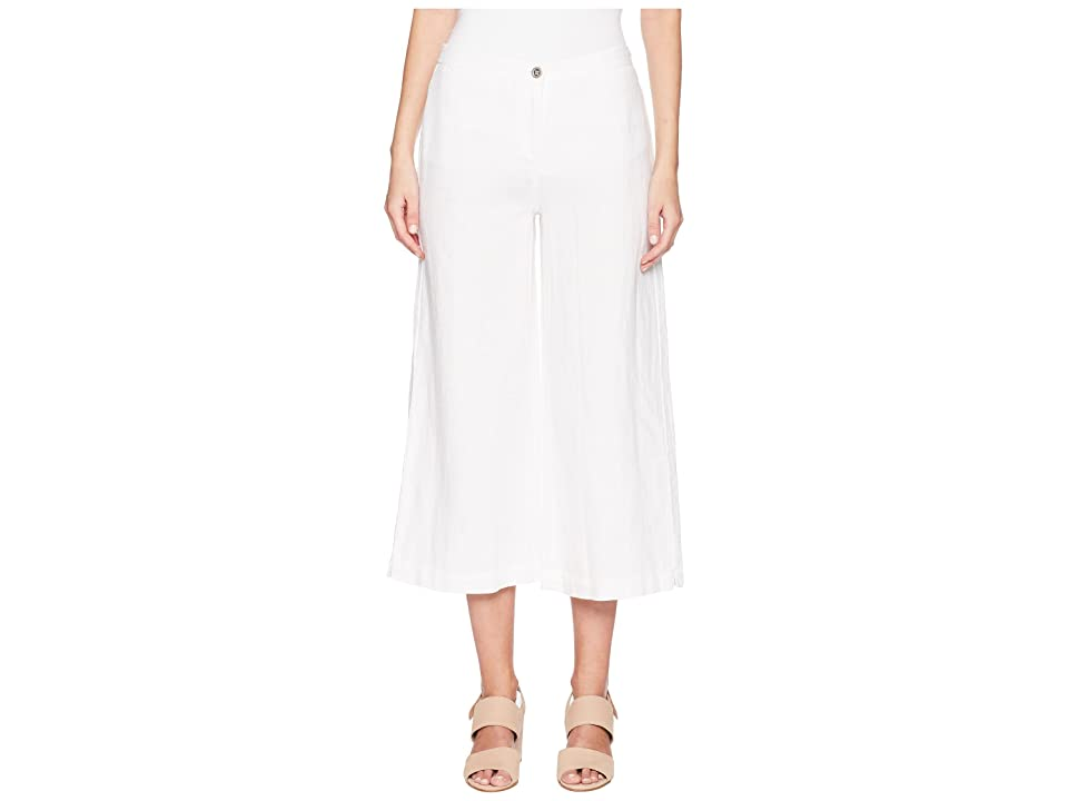 Eileen Fisher Wide Cropped Pants (White) Women