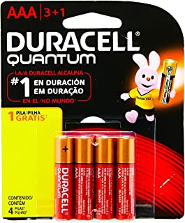 Pilha Alcalina AAA Palito DURACELL Quantum Leve 4 Pague 3 unidades