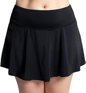 KEEPRONE Women's Skirted, Plus Size Swim Bottoms, High Waisted Flounce Swimsuits Skirt, Two Piece Tankini Bottom for Women