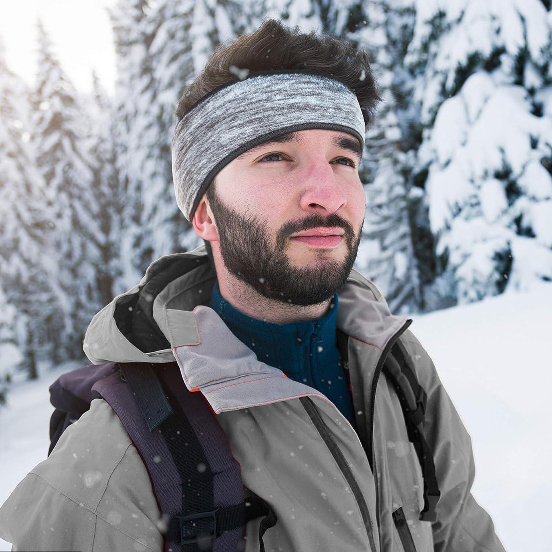 Zando Ear Warmer Fleece Headbands - Ear Cover for Men Winter Cycling Running Ear Muffs Headbands for Women