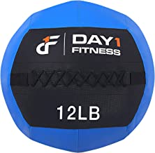 Day 1 Fitness Blue Soft Wall Medicine Ball 12 Pounds