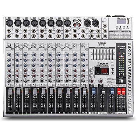 G-MARK GMX1200 Professional audio mixer console dj Music Studio 12 channels 8 mono 4 stereo 7 brand EQ 16 effect USB play