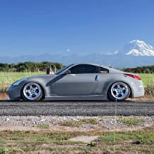 Nissan 350Z 2003-2008 ING Style 2 Piece Polyurethane Side Skirts manufactured by KBD Body Kits. Extremely Durable, Easy Installation, Guaranteed Fitment and Made in the USA!