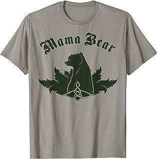 Brave Mama Bear Silhouette Side Profile T-Shirt