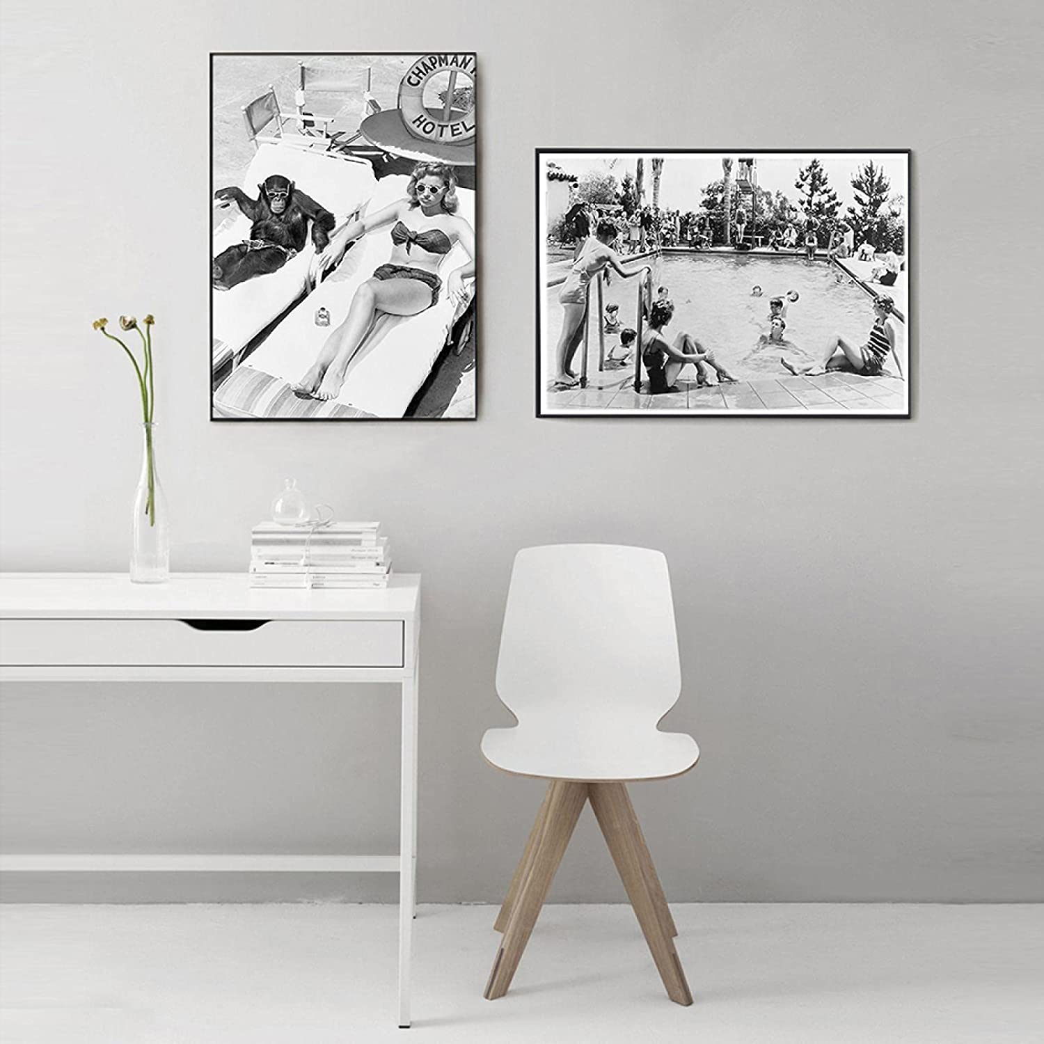 Black White Vintage Home Decoration Woman Days All items in the store 5% OFF Lazy Canva Poster