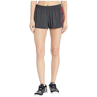adidas Knit Shorts (Grey Six/Grey Six/Shock Red) Women