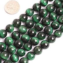 Tiger Eye Beads for Jewelry Making Gemstone Semi Precious 10mm Round Green 15