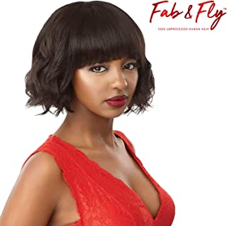 Outre 100% Unprocessed Human Hair Fab & Fly Full Cap Wig - HH-EVELYN (NBLK)