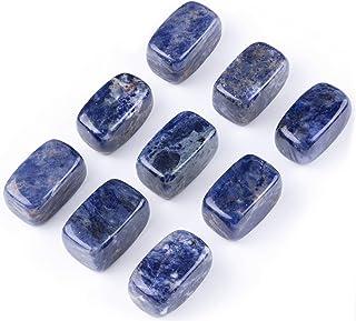 Sodalite Rock Crystal Doublet Cabochon-Sodalite Crystal Doublet-Natural Sodalite Rock Crystal Faceted Fancy Cabochon-31x15.5x11.5 MM-BS16892