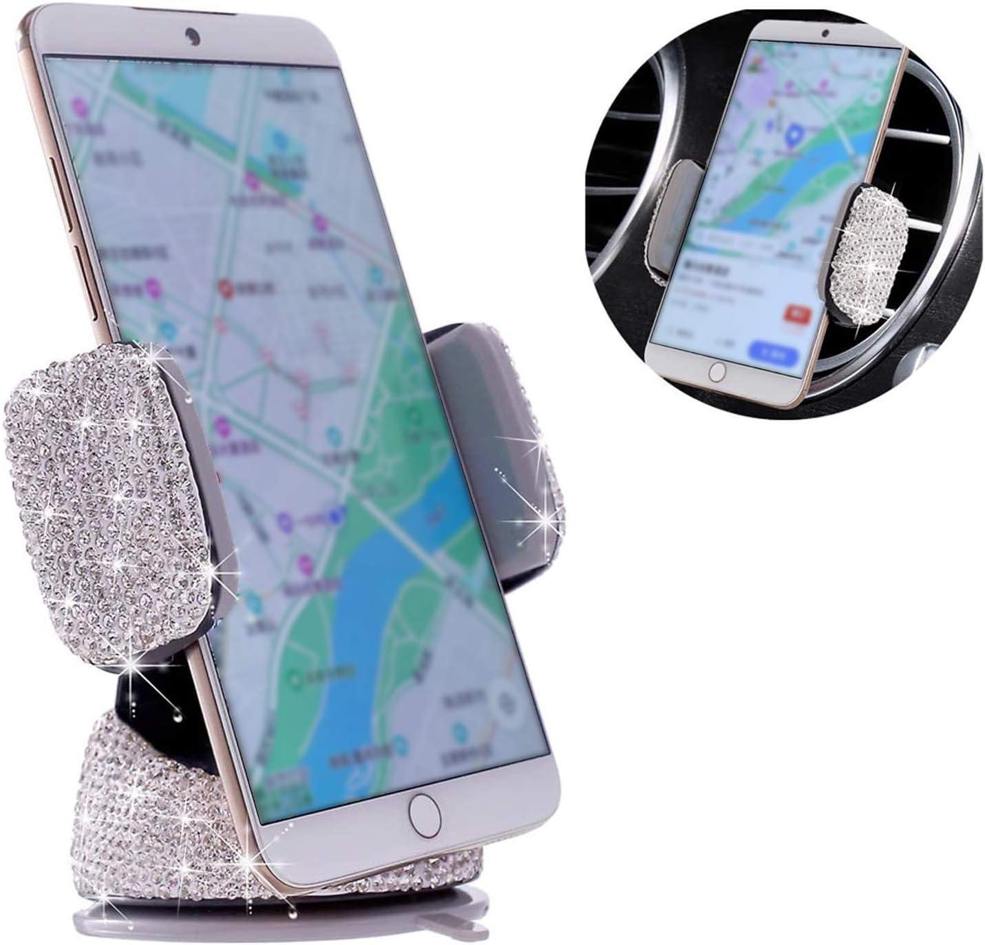 Bling Crystal Virginia Beach Mall Car Product Phone Mount,Car U Adjustable Holder