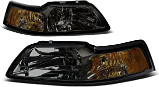 For Ford Mustang New Edge 4th Gen Pair of Smoked Lens Amber Corner Headlight