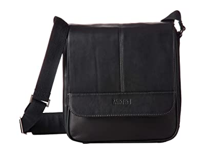 Kenneth Cole Reaction Colombian Leather Tablet Bag (Black) Handbags