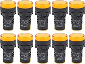 Luz de indicação de sinal amarelo, lâmpada indicadora de LED de efeito de indicação perfeito para instrumentos e equipamen...